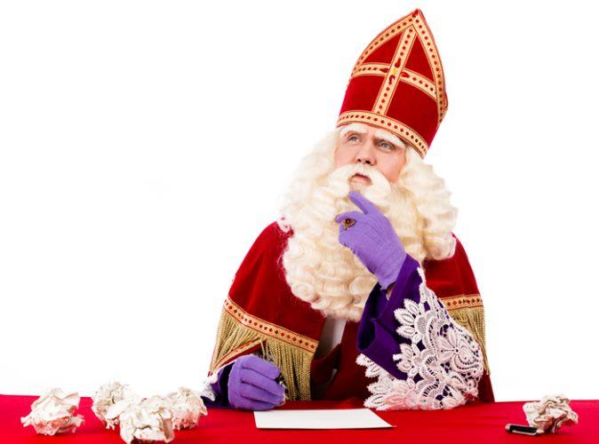 Sinterklaas vieren in de studio